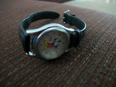 Disney Mickey Mouse Lorus Ladies Watch working v501-6R00 Leather vintage