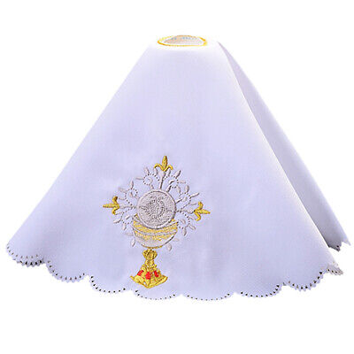 Church Mass Altar Cover Chalice Embroidered Lace Altar Cloth Chalice Pall
