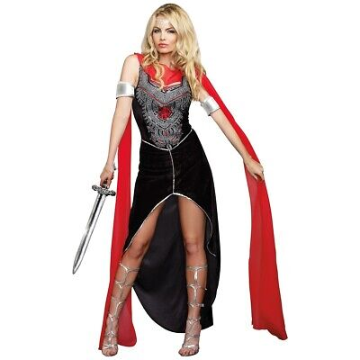 Medieval Warrior Costume Adult Princess Halloween Fancy Dress