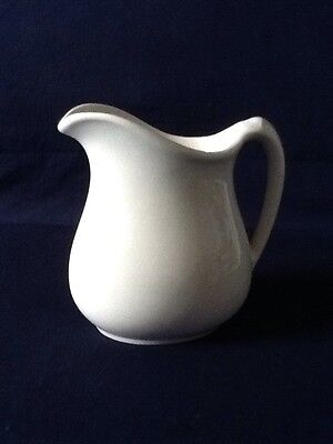 Vintage TEPCO Solid White Ironstone Hotel Restaurant Ware Water Pitcher ~ 5 3/4""
