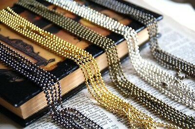 10 x Ball Chains 2.4 mm 24 inches ball chain ready to wear necklace AU SELLER
