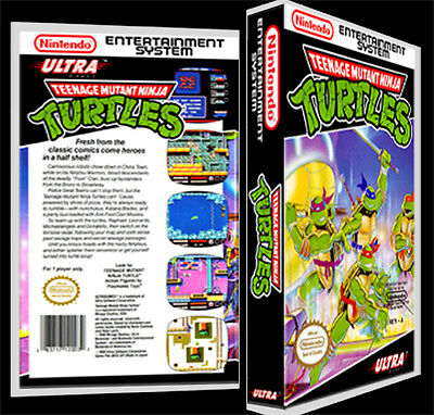 Teenage Mutant Ninja Turtles  - NES Reproduction Art Case/Box No Game.