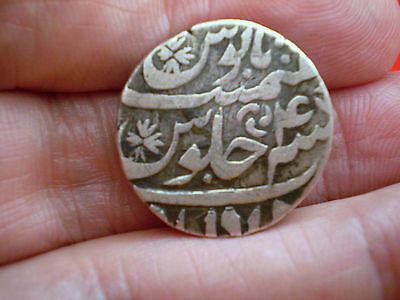 Decent Grade India Mughal Empire 1 Silver Rupia/Rupee Sholapur Mint Coin