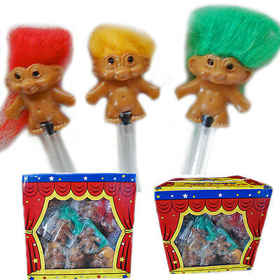 Pencil Troll Topper Toy Hair Doll Toppers Kids Mini Party Bag Filler Fun Loot