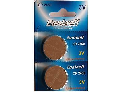 2 X Eunicell Cr2450,dl2450, Cr2450N, Ecr2450, Br2450 Glucometer Lithium Battery