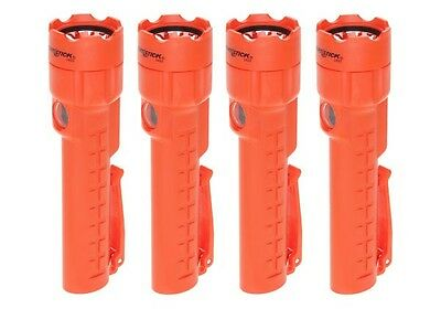 4-Pack of Bayco Nightstick NSP-2422R Red Dual-Light Flashlight with Magnet Tail
