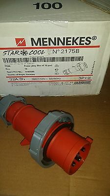 Mennekes GENUINE (1)  2175b Power Plug  Connector  380/440v 50/60HZ 32A 3H  3P+