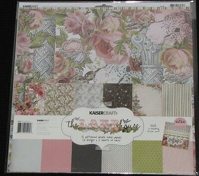 "Kaisercraft 'THE LAKE HOUSE' 12x12"" Paper Pk + Stickers KAISER *SPECIAL PRICE*"