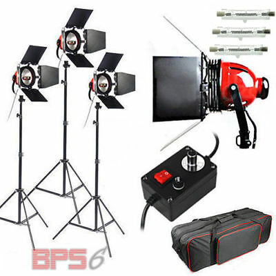 2400W Redhead Continuous Lighting 3x800W Video Photo Red Head Light Focus Kit AU