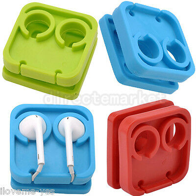 Square Cable Cord Wire Organizer Winder Smart Wrap Holder For Headphone Earphone