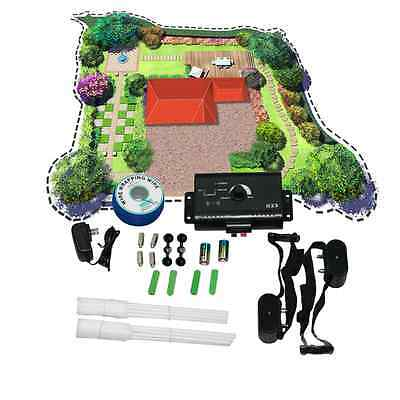 New Underground Electric Dog Fence System Waterproof 2 Shock Collars for 2 Dogs