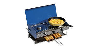 Campingaz Camping Chef Gas Double Burner and Grill Stove