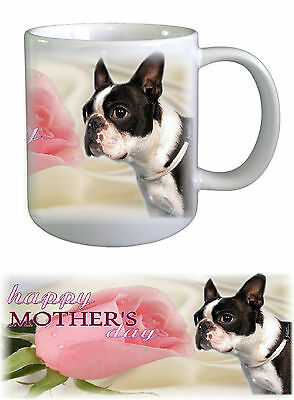 Boston Terrier Dog Mothers Day Ceramic Mug by paws2print