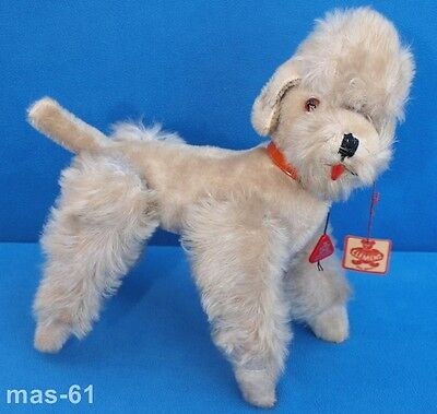 Clemens Spieltiere Pudel Hund Snobby 25 Cm Mohair Dog Poodle Vintage