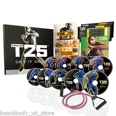 FOCUS T25 Shaun T's 25 Minute Exercise Fitness HIIT Workout DVD Boxset Programme