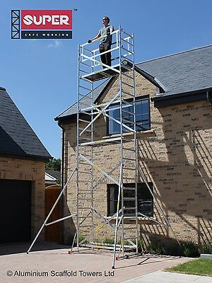 Super SDIY Up To 7.2m Aluminium Scaffold Tower Towers Free Next Day Del