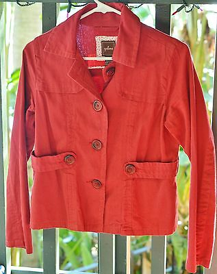 Galeno Size S Red Coat - Peacoat Casual Fall Sweater Coat
