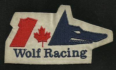 Vintage 70s Wolf Racing Canada Formula 1 Collectors Patch Walter Wolf