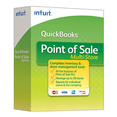 Intuit QuickBooks Point of Sale POS 12.0 Multi-Store Retail New