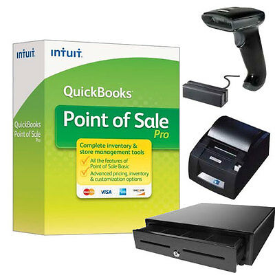 NIB QuickBooks POS 12.0 Pro Software & Hardware. Submit Your Offer Now!