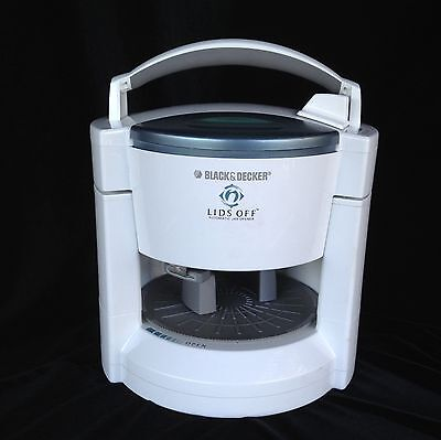 Black & Decker LIDS OFF automatic jar opener  JW200 100W White