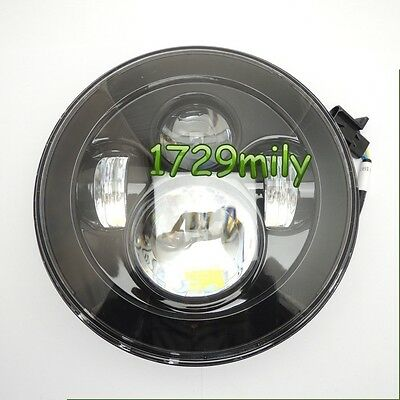 """7"""" Motorcycle Projector Daymaker LED Light Bulb Headlight for Harley Black 13 US"""