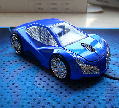 3D 1600DPI Lincoln Cool Car Shape Usb Optical Gaming Mouse + Light Up + 4 Colors