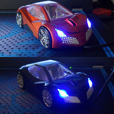 NEW 3D 1600DPI Lincoln Cool Car Shape Usb Optical Mouse with Light Up + 4 Colors