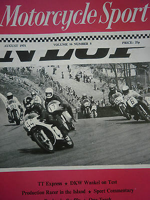 Motorcycle Sport Magazine 08/75 Tony Jarvis Leads At Druids, Brands Hatch Cover