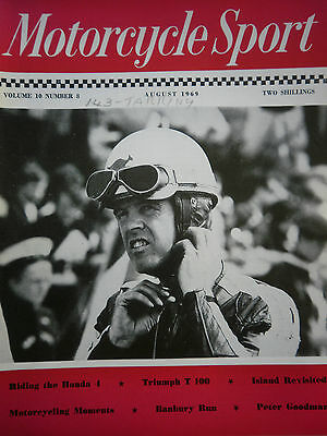 Motorcycle Sport Magazine 08/69 - Australia,s Barry Smith At The Tt Cover