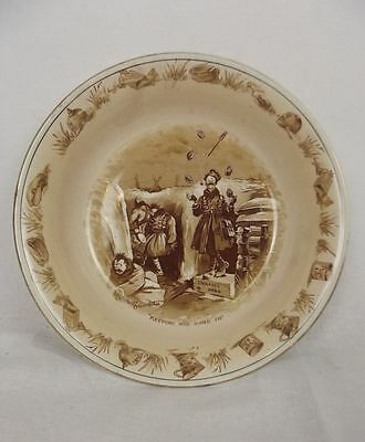 "WW1 Bruce Bairnsfather Ware ""Keeping His Hand In"" Bowl By Grimwades"