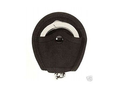Hwc Police Security Black Nylon Handcuff Belt Holder Case Open Top & Belt Loop