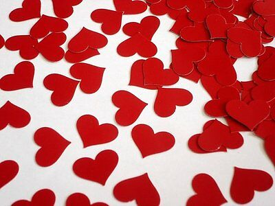 Red Heart Shaped Anniversary Wedding Table Confetti - 14g