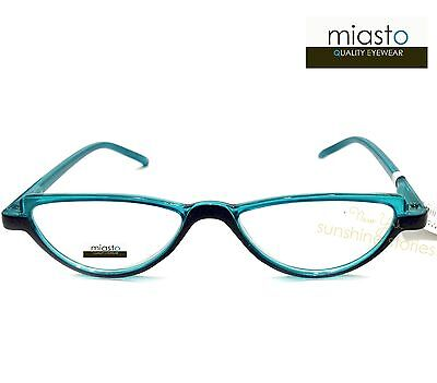 "Nwt$39.99 Miasto ""mini Italy"" Small Retro Half Moon Reader Reading Glasses Specs"