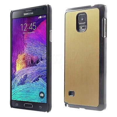 Samsung Galaxy Note 4 Phone Metal Aluminum Back Hard Case Cover Snap Housing New