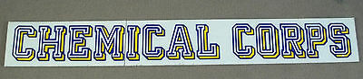 US Army Decal - Sticker - Chemical Corps
