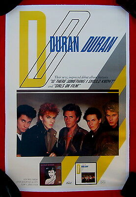 Duran Duran 1983 video poster MINT CONDITION ;linen-backed
