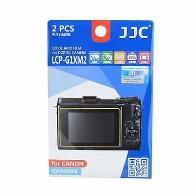 JJC LCP-G1XM2 LCD Screen Protector Film Cover for Canon G1X Mark II Mk2 Camera