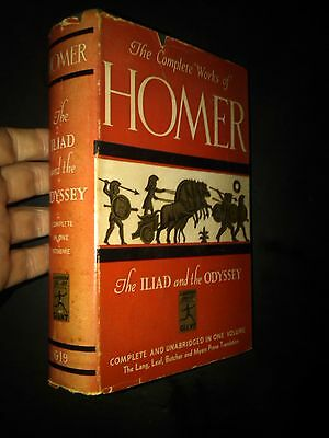 The Complete Works of Homer The Iliad and the Odyssey Modern Library HCDJ