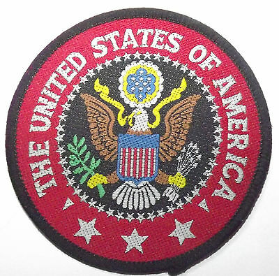 UNITED STATES OF AMERICA Vtg 70`s/80`s Woven Patch U.S.A. President Seal USA
