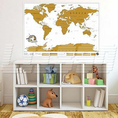 World Map Poster Personalized Travel Vacation Personal Log Gift