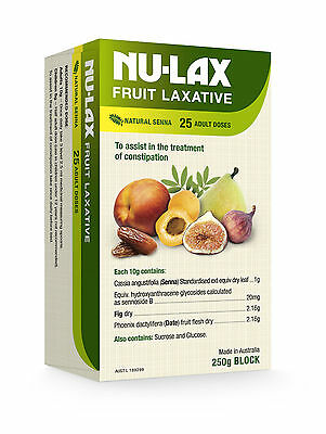 GENUINE Nu-Lax 250G Natural Fruit Laxative (Nulax Senna & Fig)