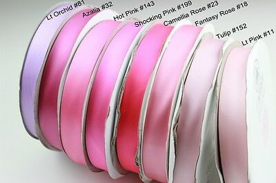 <Lilac Pink> 9-38mm 1mtr Satin Ribbon Scrapbook Craft Gift Wrap Hair Wedding