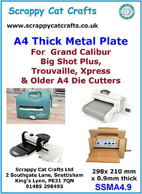 Thick Metal Plate for Xcut Xpress and Similar A4 Machines: 503402SCC