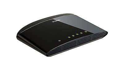 D-Link  DES-1005D/B 5-Port 10/100 Fast Ethernet LAN Switch Network Splitter UK