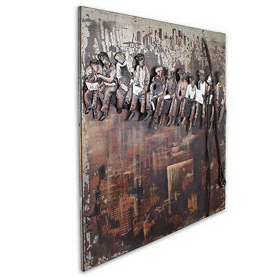 Workers Manhattan Arbeiter New York Bild Industrie Design Loft Metallbild 3D 397