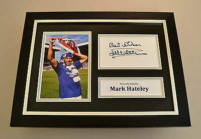 Mark Hateley Signed A4 Photo Framed Display Rangers Autograph Memorabilia + COA