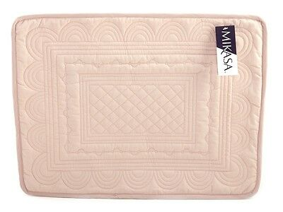 MIKASA Hush LARGE Quilted Cotton LIGHT PINK PLACEMAT
