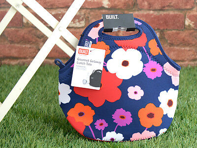 BUILT NY Gourmet Getaway LUSH FLOWER Neoprene LUNCH TOTE BAG