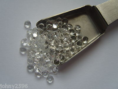2.5mm white topaz gemstone round cut 2 stones for £1.00.